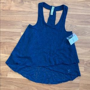 NWT Free People Lace Tank Top with Bead Detail
